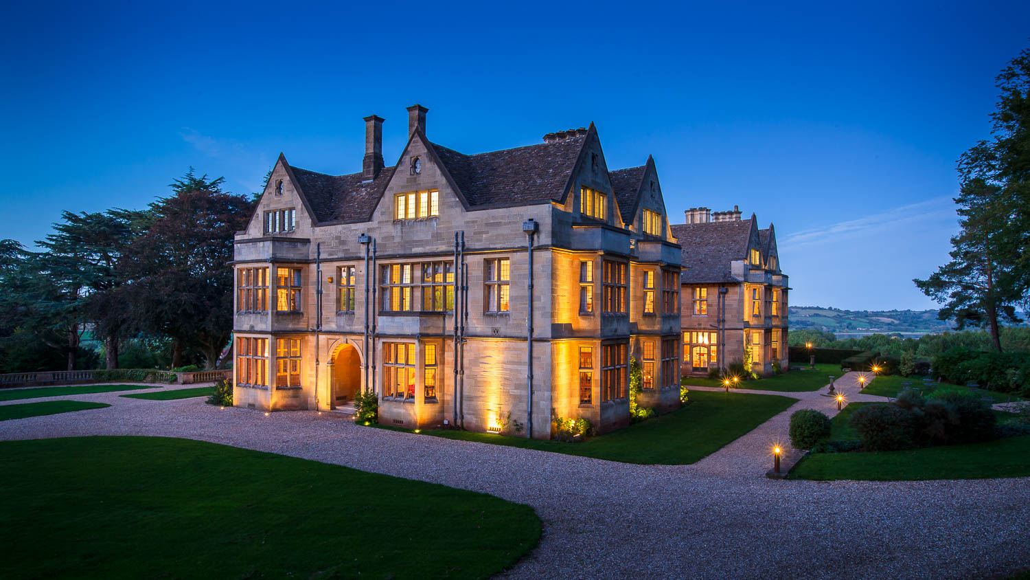 Coombe Lodge by Night